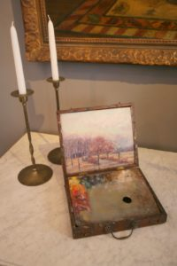 This painting box belonged to Harry W. Newman, a 19th century painter.
