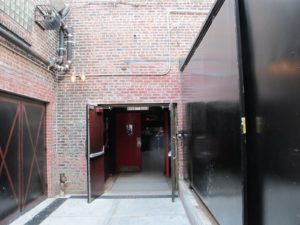 The reach the entrance to Brooklyn Bowl, one must use this long walkway.
