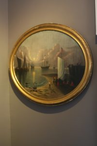 This painting is by Thomas Chambers, a 19th-century artist, known for his maritime and landscape paintings.