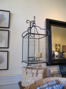 At Rooms and Gardens, the lovely shop owned by Mary Steenburgen, I found a pair of over-sized lanterns - these can be used indoors or out.