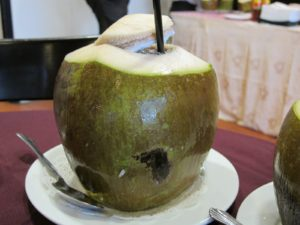 After touring the Bird Park, we were refreshed with my favorite drink - young coconut.
