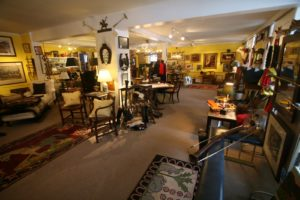 This shop offers English and American furniture highlighted by antique and vintage accessories celebrating the horse, the dog, and decorative sporting accents.