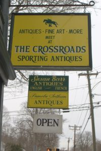 The Crossroads is a very unusual antiques store.  http://sportingantiquesct.com/