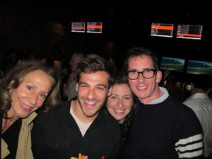 Robin Marino, Thomas Joseph, Nora Singley, and Kevin Sharkey enjoying a fun moment together.