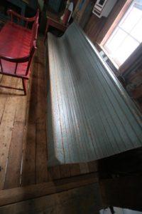 An unusual long bench
