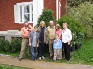 A portrait with Don's family - Charles, Evan, Elijah, me, Don, Jennifer, Ethan, and Mary