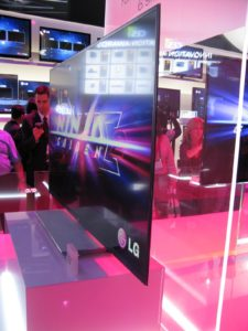 An amazingly thin TV from LG http://www.lge.com/us/index.jsp