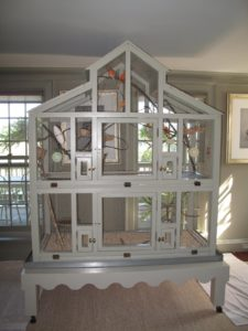 My canaries have been living in this grand cage for several years and I wanted to give them a new home in a different room.