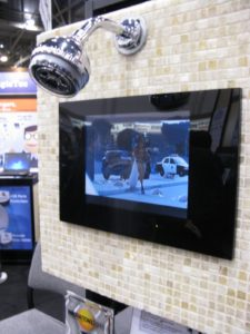 A waterproof TV for your shower