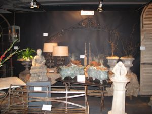 There were many, many garden antiques offered - these were at the Finnegan Gallery from Chicago.  http://finnegangallery.com/