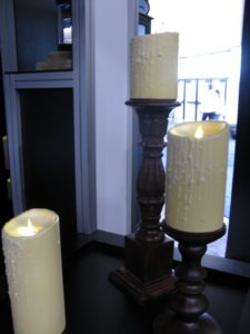 Digital candles were very realistic.  Those are not real flames!
