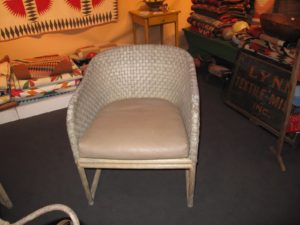 Claire Danes, the actress, had just purchased these woven leather porch chairs - they were excellent.