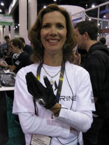 The Peregrine http://www.theperegrine.com/ is a glove that lets you control your computer games.