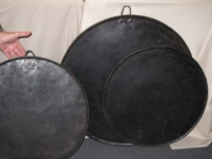 I contemplated these very large iron baking pans, but I did not get them.