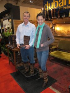 Terry McLaughlin of Dubarry Boots of Ireland and his assistant.  http://www.dubarryboots.com/