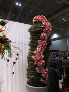 The floral designs presented in the Garden Club of Toronto's Horticultural and Design Competition - I loved this lily garland.
