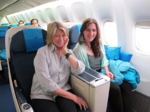 Sophie and I had excellent seats in business class from Los Angeles to Kuala Lumpur via Taipei.