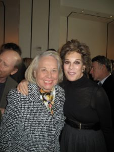 Liz Smith and Peggy Siegal - a well-known publicist.  Peggy coordinates many amazing gatherings and premieres.