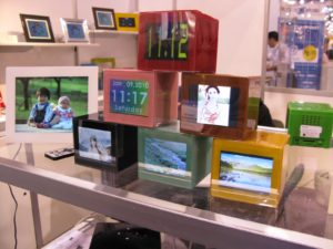 A Korean booth showed off their really neat photo/alarm clocks.