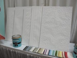 And also this great paintable textured wallpaper
