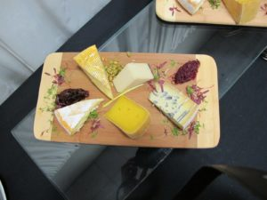 Our lovely lunch was prepared by Centerplate Catering at the Direct Energy Centre.  There were wonderful Ontario cheeses with homemade jam.