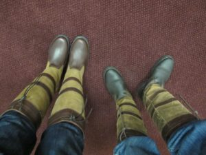 My nice new boots are on the left.