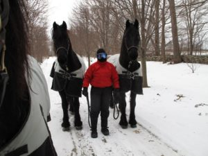 This is Betsy all bundled up - she knows how to dress for the cold.  Ramon and Rutger are looking nicely at the camera.
