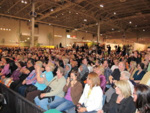 The crowd was quite large - about 400.