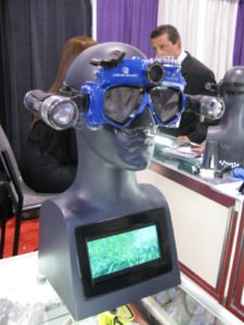 The Liquid Image dive mask www.liquidimageco.com/ - An amazing underwater still and video camera built into this scuba mask.