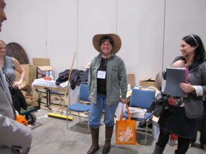 Betsy Perretin, my stable manager, was having a great time.  She was also given a pair of Dubarry boots and she purchased that great Tula hat.
