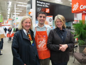 We visited The Home Depot in Oakville, ON - here I am with Annette Verschuren and Ammar Abuarjeh - the manager of the store.