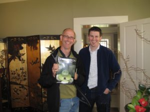 Andrew and my gardener, Shaun, enjoyed looking at Don's book on dogwoods.