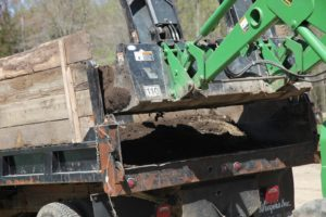 This super-rich soil is loaded onto the dump truck.