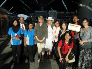 Leaving our wonderful Kuala Lumpur team at the airport