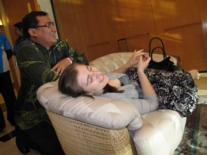 Despite feeling a bit under the weather and needing a little rest, Sophie was in good spirits and thrilled to go to Borneo, as she is a real lover of animals.