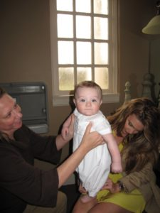 Kim Miller - TV producer - assists Liesl in getting Luke ready.