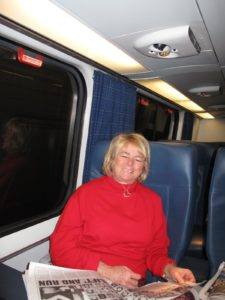 This is Jane Heller, Steve's wife, also on the train.  We met at 7:15 Sunday morning to travel together to Baltimore for a Vietnamese feast.