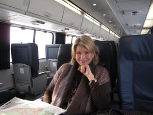 Here I am on the Acela, ready for an adventure.