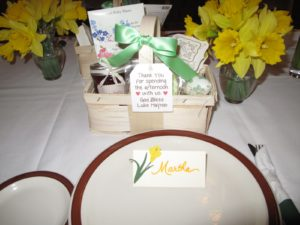 Liesl picked beautiful daffodils for the table and made thoughtful gift baskets.