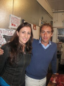 My niece, Sophie, and Andrew Tarlow, co-owner of Marlow & Sons/Daughters
