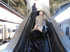 The escalator was working!
