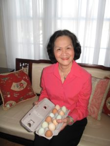 Our hostess for the day was Trieu Doan - she made all the delicious dishes - I brought her eggs from my hens.
