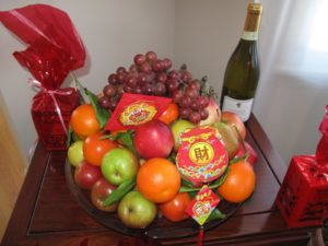 A New Year's fruit basket