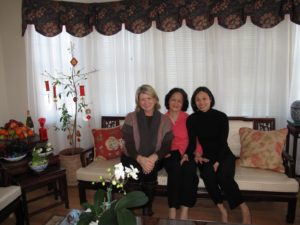 With Mrs. Doan and her daughter, Trin Jermyn