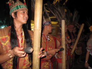 They played music on wonderful sounding traditional instruments.