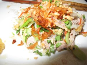 A closeup photo of the vegetable salad - goi