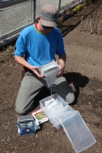 Shaun decided to try a new method of organizing seed packets.