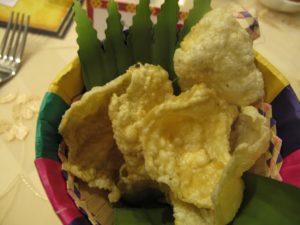 Crunchy shrimp chips