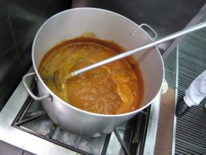 Simmering away - the aromas were intense!