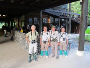 George Hong and some of the Rainforest Lodge guides.  The knee-height socks are leech protection - you need to wear them!!!
